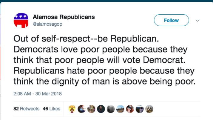 'Republicans Hate Poor People': Colorado GOP Group Excuses Social Media Post
