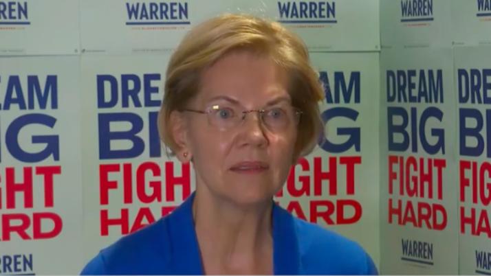 Warren Calls for Censorship of Trump on Social Network