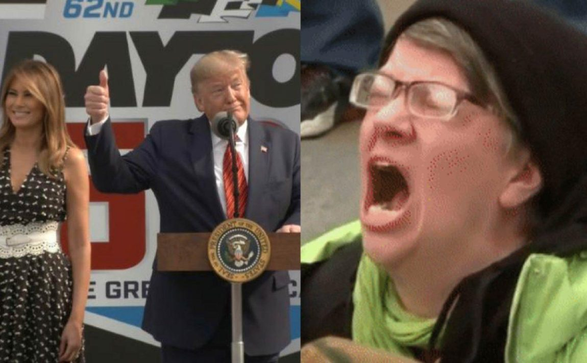 The Left Has a Complete Meltdown on Social Network Over Trump's Daytona 500 Go to